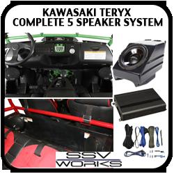 Kawasaki Teryx Complete 5 Speaker System