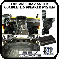 Can Am Commander / Maverick Complete 5 Speaker System