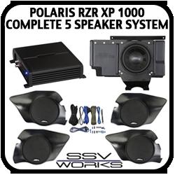 Polaris XP1000 Complete 5 Speaker System