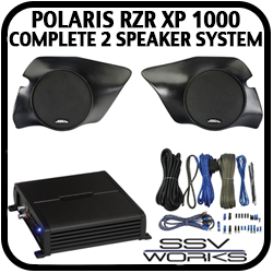 Polaris XP1000 Complete 2 Speaker System