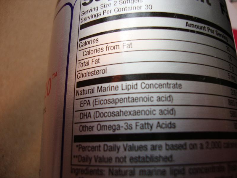 Don't be Fooled!  Read fish oil labels before you buy.