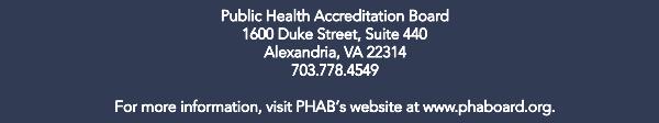 PHAB E-Newsletter Footer