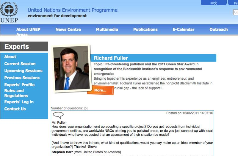 UNEP screenshot