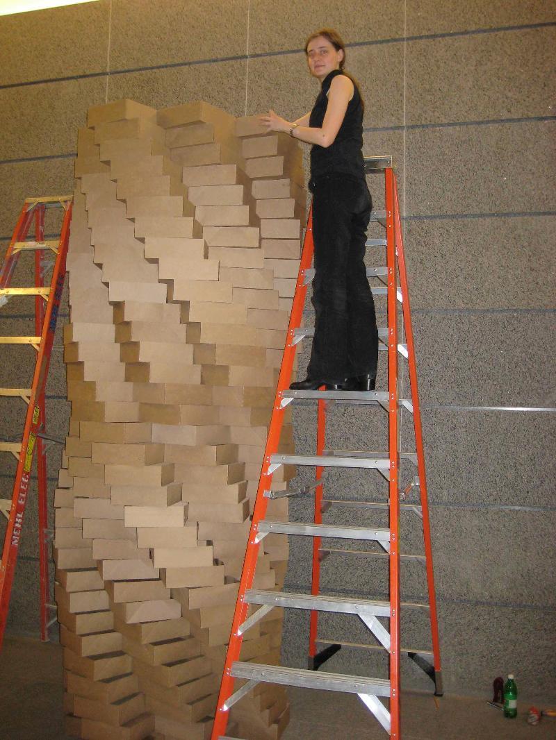 cardboard tower display