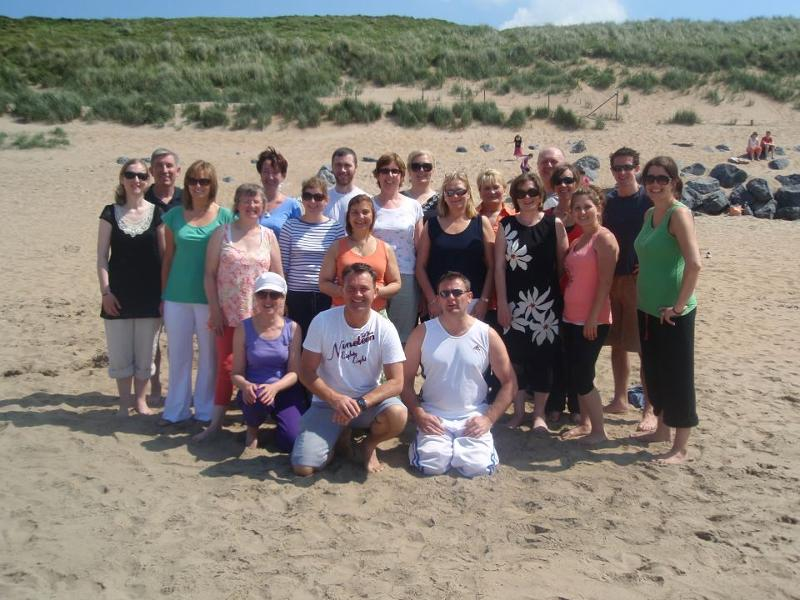 Michael & Liam with Trainee Therapists at Lahinch Beach May 2012