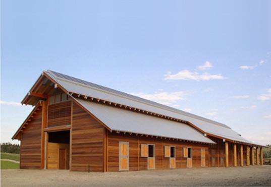 Solar Panel on Barn