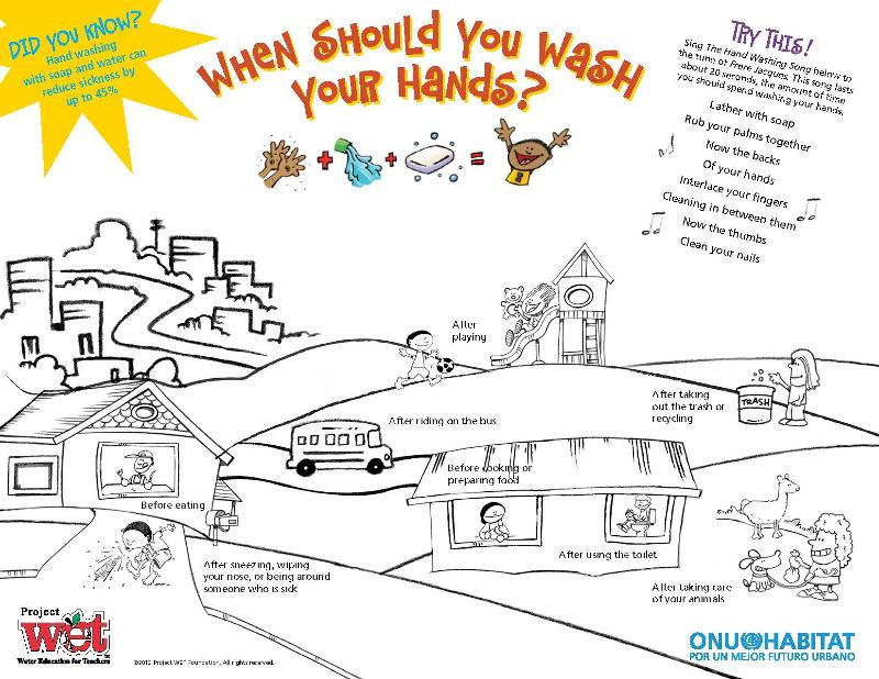 Global Handwashing Day with a FREE Poster or Coloring Page