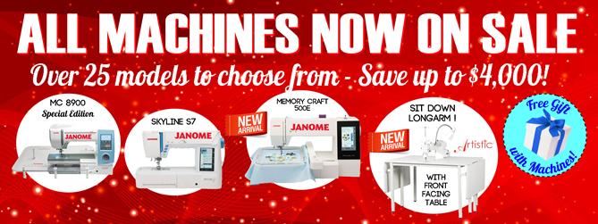 All Janome Necchi Longarm Machines on Sale_