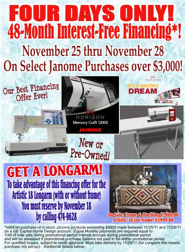 Holiday Sale & Special Financing!