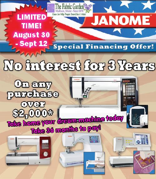 36-month No-Interest Financing!
