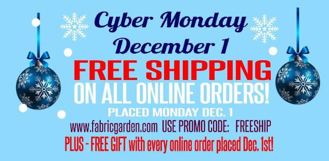 Cyber Monday - Free Shipping on all orders!  Free Gift with every order!