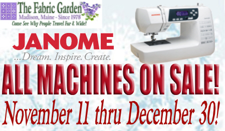 All Janome Machines On Sale!