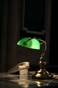 green lamp on desk-shutterstock