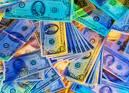 colorful dollar bills