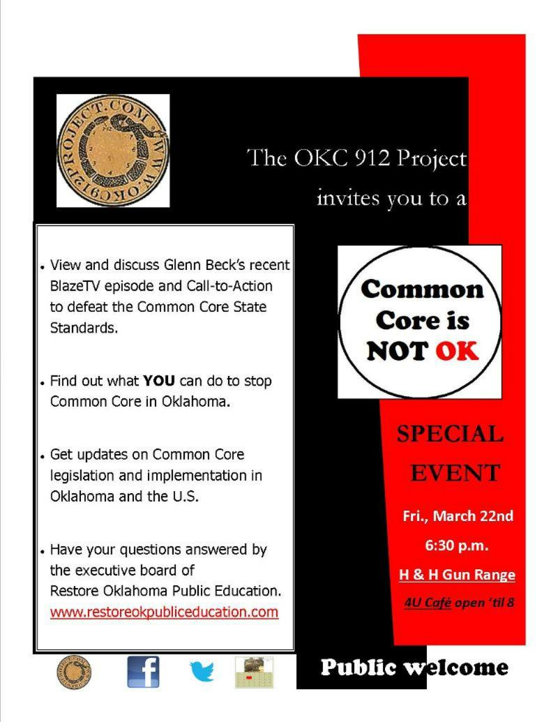Common Core is NOT OK! Special Event