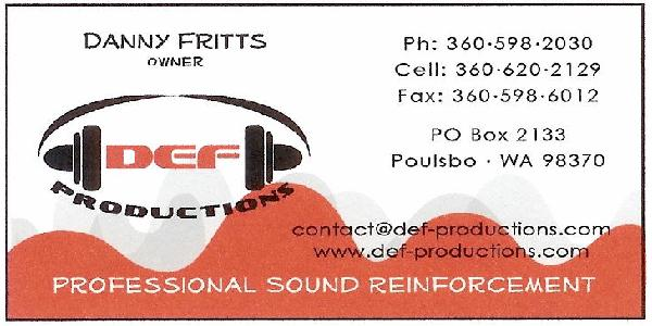 DEF Productions Ad 2009