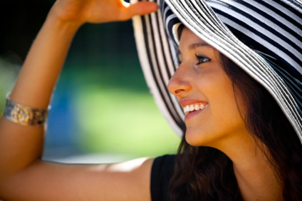 Sun model with hat