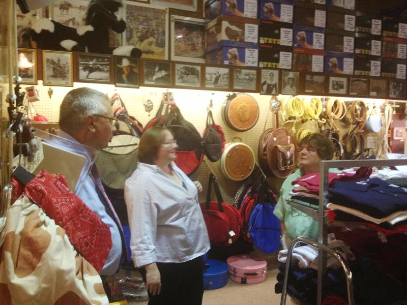 Beverley Simpson Visit to King's Saddlery