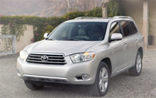 Recalled Toyota Highlander
