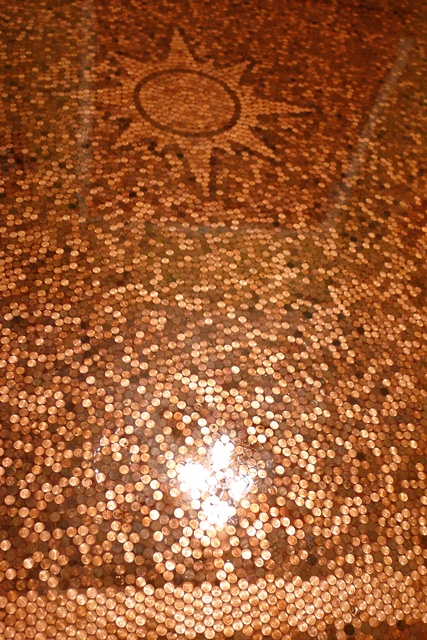 Ever Seen A Floor Made With Pennies And Epoxy Resin
