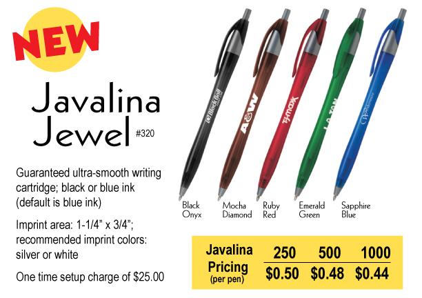Javalina Jewel Pens