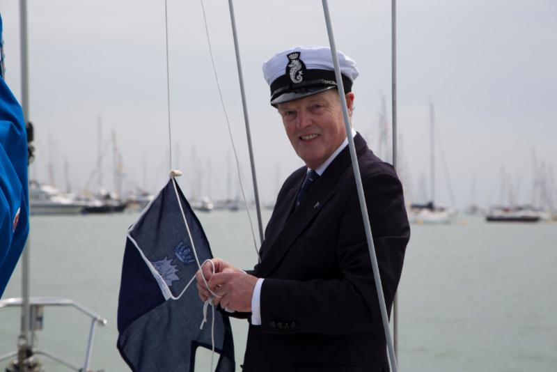 Michael Board on board Olivia,Contessa 32 at the RYS Fleet Review © Olivia Chenevix-Trench.jpeg