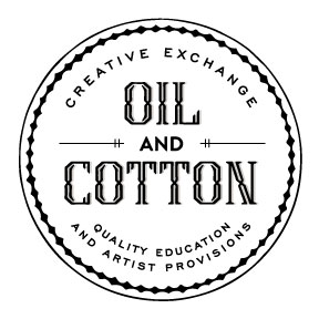 Oil and Cotton logo - white