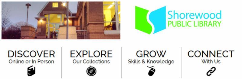 Shorewood Library e-news header image