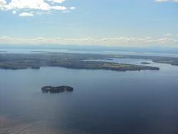 lake from plane