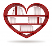Heart Book Shelf