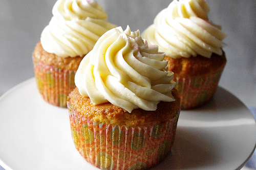 Meyer Lemon Cupcakes with Mascarpone Frosting