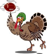 turkey with a football