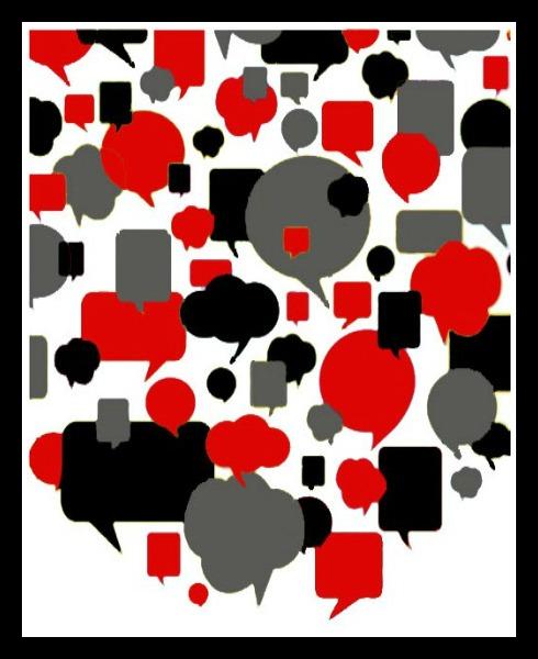 Black & White Talk Bubbles
