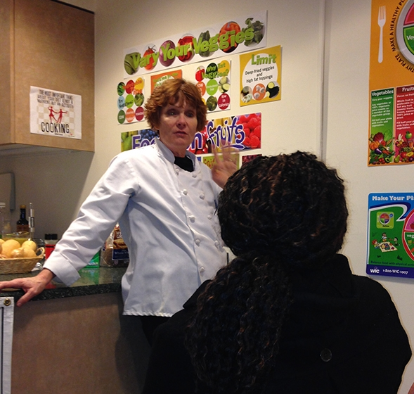 Tracey Burg, the nutritionist and chef in charge of the demo kitchen at BMC