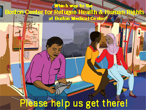 Clients sitting on the T--Help us get to BCRHHR!