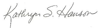 Kathryn's Signature