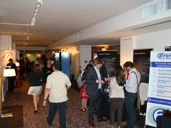 Busy exhibit area