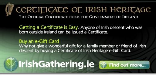 Irish Heritage Certificate