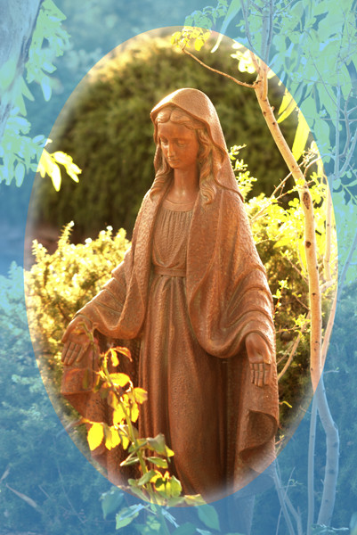 Mother Mary in Garden