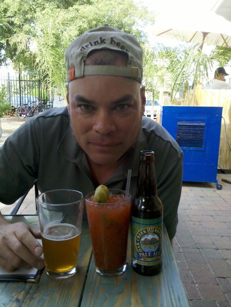 Rob at Local Breeze with a Bloody Mary