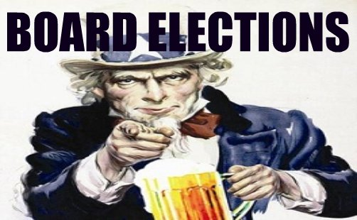 uncle sam with beer mug, board elections