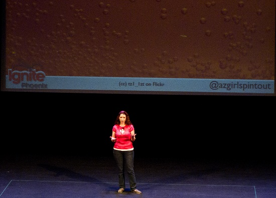 Mo, @azgirlspintout, Presenting at Ignite Phoenix 9