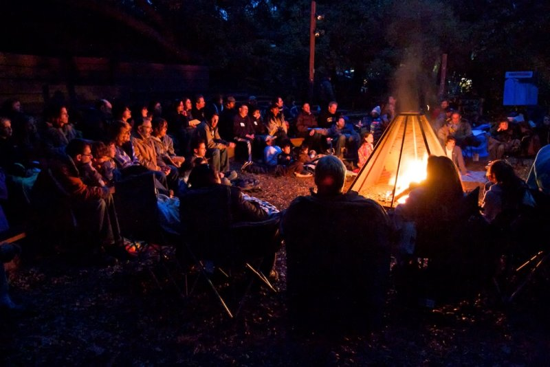 Congregation Or Ami Seder in the Wilderness Campfire service