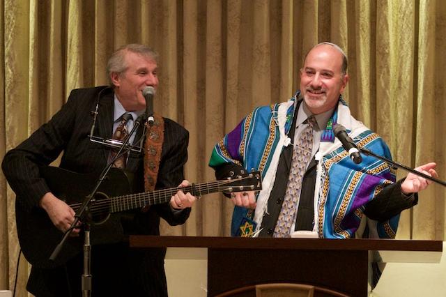 Rabbi Paul Kipnes and Cantor Doug Cotler at Congregation Or Ami services