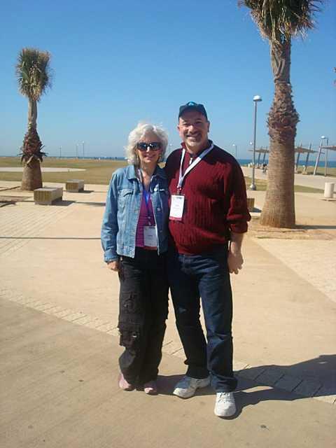 Paul Kipnes and Elaine Zecher in Tel Aviv