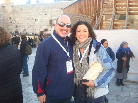 Paul Kipnes and Nancy Kasten at Kotel