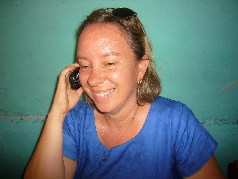 Dr. Kristen on her weekly phone call with Dwight