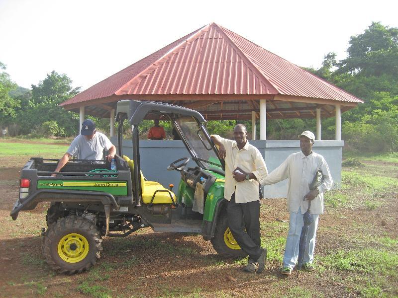 Gator Utility Vehicle near Gazebo