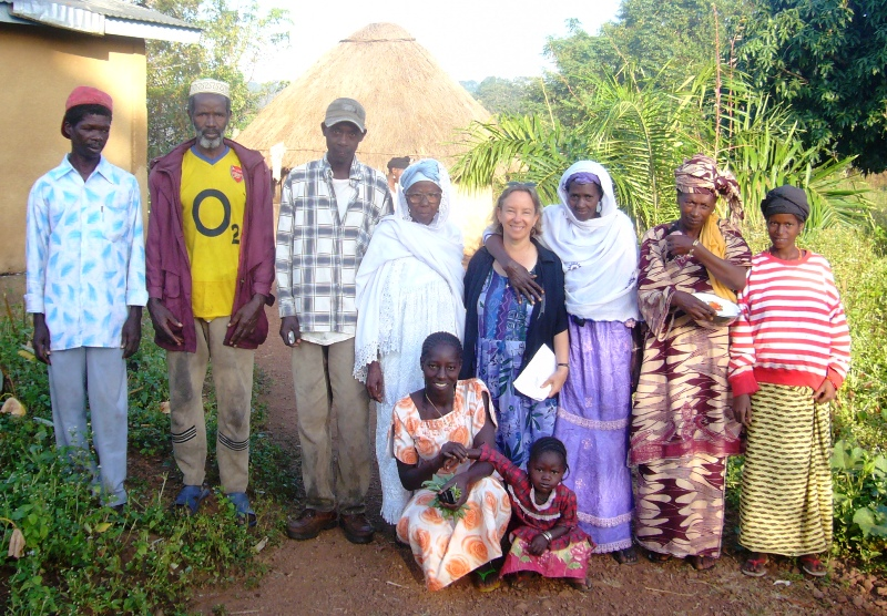 Dr. Kristen with village friends