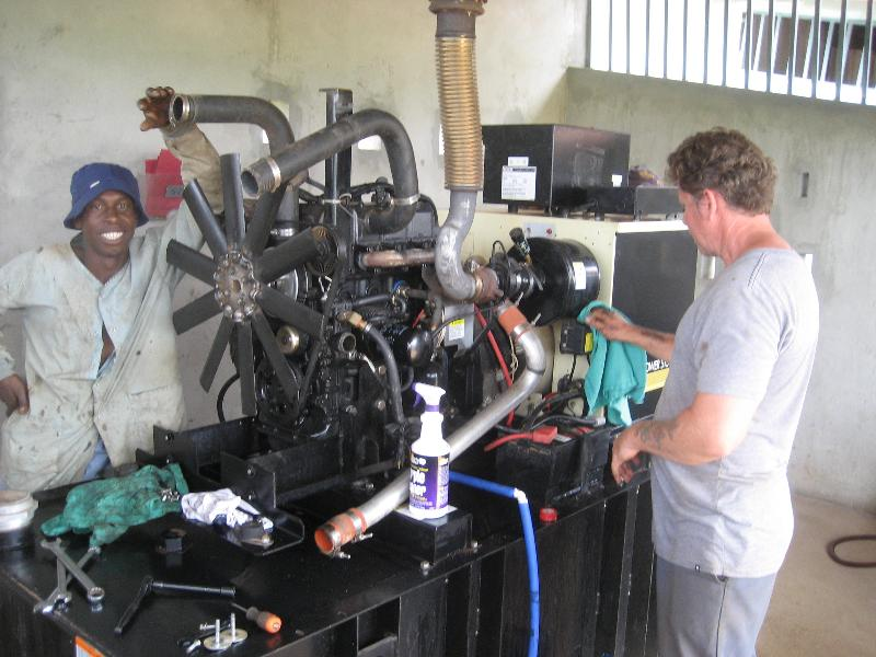 Routine maintenaqnce on generator